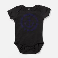 Cute Navy dad Baby Bodysuit