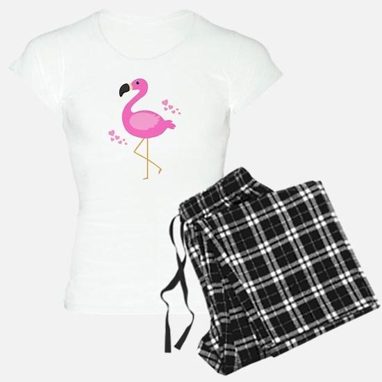 Pink Flamingo Hearts Pajamas