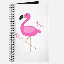 Pink Flamingo Hearts Journal