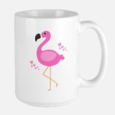Pink Flamingo Hearts Mugs