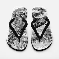 Unique Hippo Flip Flops