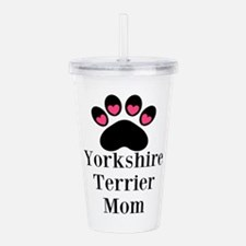 Yorkshire Terrier Mom Acrylic Double-wall Tumbler