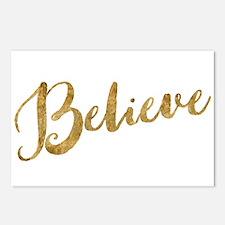 Gold Look Believe Postcards (Package of 8)