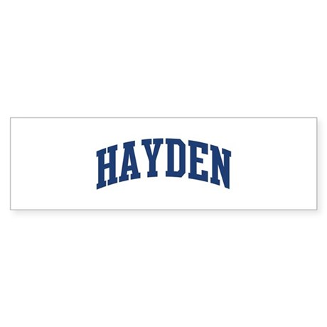 HAYDEN design (blue) Bumper Sticker