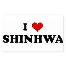 I Love SHINHWA Rectangle Decal