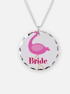 Bride Pink Flamingo Necklace