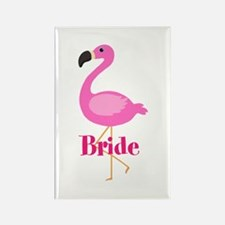 Bride Pink Flamingo Magnets