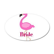 Bride Pink Flamingo Wall Decal