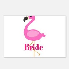 Bride Pink Flamingo Postcards (Package of 8)