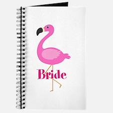 Bride Pink Flamingo Journal