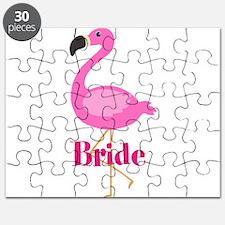Bride Pink Flamingo Puzzle