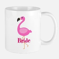 Bride Pink Flamingo Mugs