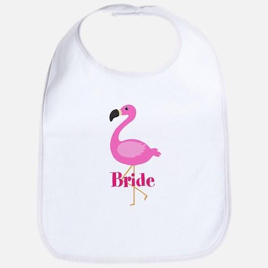 Bride Pink Flamingo Bib