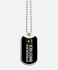 U.S. Army: Proud Brother (Black) Dog Tags