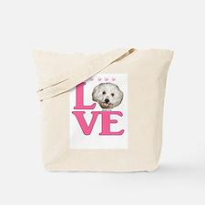 LOVE Bichon Frise Tote Bag
