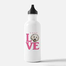 LOVE Bichon Frise Water Bottle