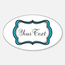 Personalizable Teal Black White Decal