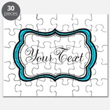 Personalizable Teal Black White Puzzle