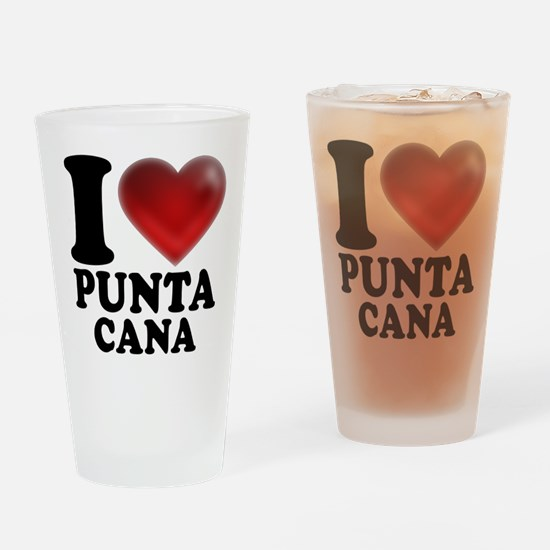 I Heart Punta Cana Drinking Glass
