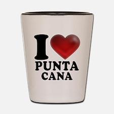 I Heart Punta Cana Shot Glass