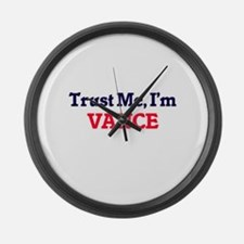 Trust Me, I'm Vance Large Wall Clock