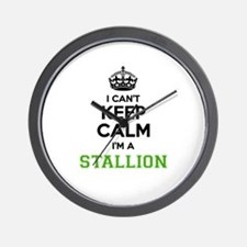 STALLION I cant keeep calm Wall Clock
