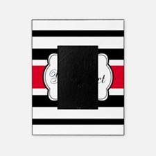 Personalizable Red Black White Stripes Picture Frame
