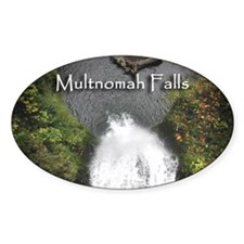 Multnomah - Looking down! Oval Decal