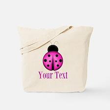Purple Ladybug Tote Bag