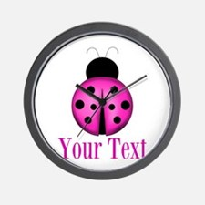 Purple Ladybug Wall Clock