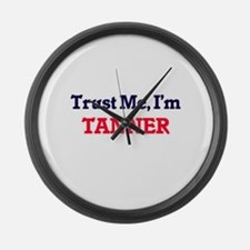 Trust Me, I'm Tanner Large Wall Clock
