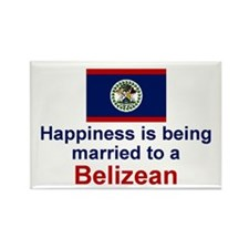 Happily Married to a Belizean Rectangle Magnet