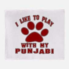 I Like Play With My Punjabi Cat Throw Blanket