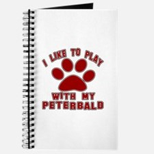 I Like Play With My Peterbald Cat Journal