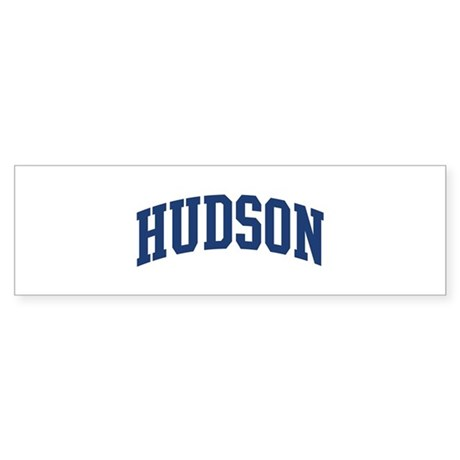 HUDSON design (blue) Bumper Sticker