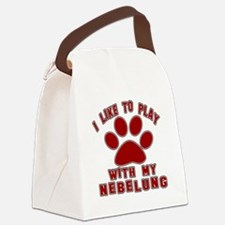 I Like Play With My Nebelung Cat Canvas Lunch Bag