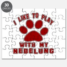 I Like Play With My Nebelung Cat Puzzle