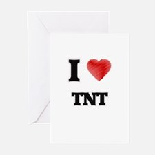 I Love Tnt Greeting Cards