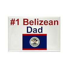 #1 Belizean Dad Rectangle Magnet