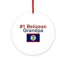 #1 Belizean Grandpa Ornament (Round)