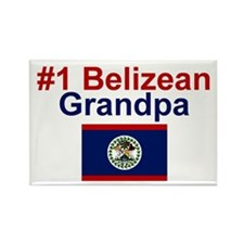 #1 Belizean Grandpa Rectangle Magnet