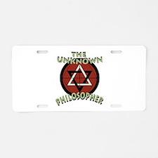 Unknown Philosopher Aluminum License Plate