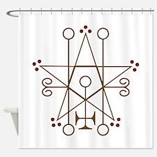 Astaroth Goetic Seal Shower Curtain