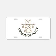 Demonologist Aluminum License Plate