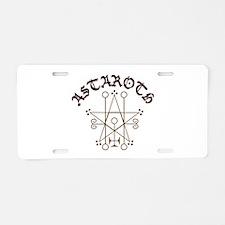Astaroth Aluminum License Plate