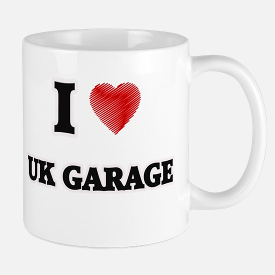 I Love Uk Garage Mugs