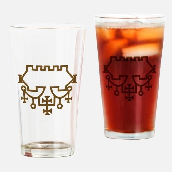 Belial Goetic Seal Drinking Glass