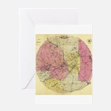 Antique Map of Minneapolis. Greeting Card