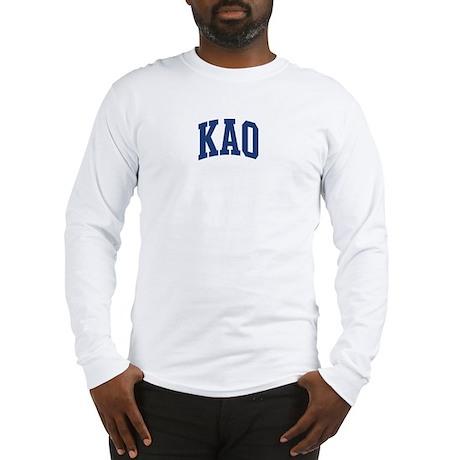 KAO design (blue) Long Sleeve T-Shirt