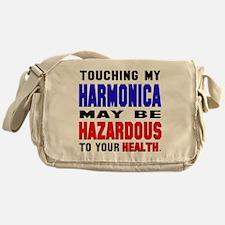 Touching my harmonica May be hazardo Messenger Bag